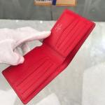 Replica LV x supreme slender wallet red