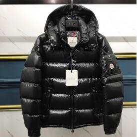 Mon Maya Down quilted nylon laque jacket black