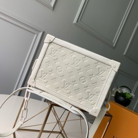 Replica LV Soft Trunk White Taurillon Monogram leather