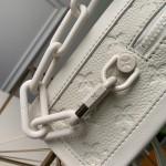 Replica LV Soft Trunk White Taurillon Monogram