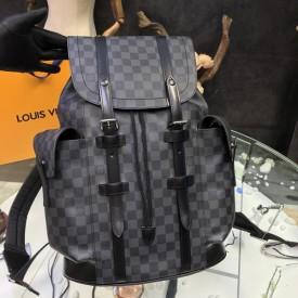 Replica LV black christopher backpack