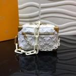 Replica LV Mini Soft Trunk Bag white