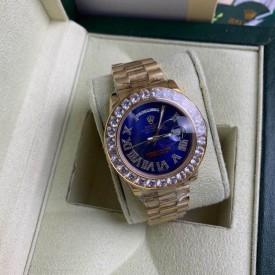 Replica Rolex Diamond 40 MM Watch blue Face