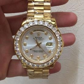 Replica Rolex 18K Gold Diamond Watch