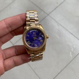 Replica Rolex Gold Diamond Blue Face
