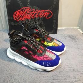 Replica Versace Chain Sneakers Blue