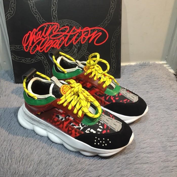 Versace Chain Reaction Sneakers tan