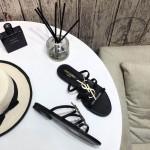Replica YSL Cassandra Flat Sandals